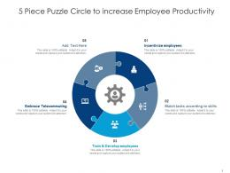 5 Piece Puzzle Circle To Increase Employee Productivity