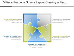 5 Piece Puzzle In Square Layout Creating A Perplexity Of Process