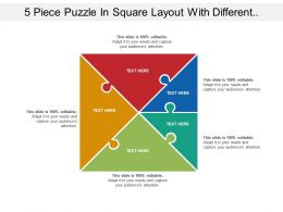 5 Piece Puzzle In Square Layout With Different Seven Section