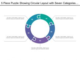 5 Piece Puzzle Showing Circular Layout With Seven Categories Of Icon Option5