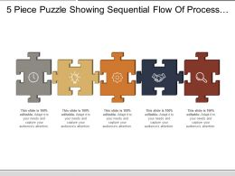 5 Piece Puzzle Showing Sequential Flow Of Process With Respective Icon