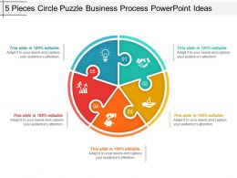 5 Pieces Circle Puzzle Business Process Powerpoint Ideas