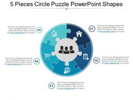 5_pieces_circle_puzzle_powerpoint_shapes_Slide01