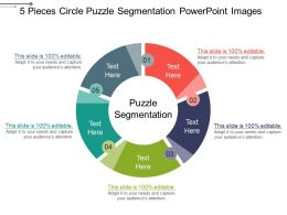 5 Pieces Circle Puzzle Segmentation Powerpoint Images