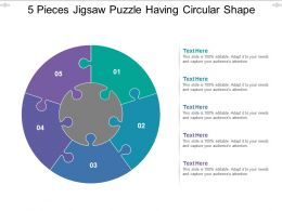 5 Pieces Jigsaw Puzzle Having Circular Shape
