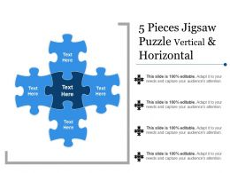 5 Pieces Jigsaw Puzzle Vertical And Horizontal