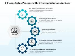 5 Pieces Sales Process With Offering Solutions In Gear