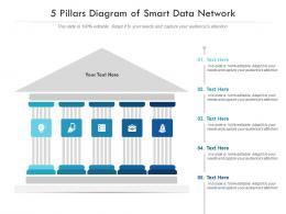 5 Pillars Diagram Of Smart Data Network Infographic Template