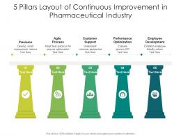 5 Pillars Layout Of Continuous Improvement In Pharmaceutical Industry