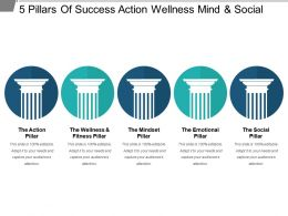 5 Pillars Of Success Action Wellness Mind And Social