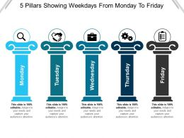 5 Pillars Showing Weekdays From Monday To Friday