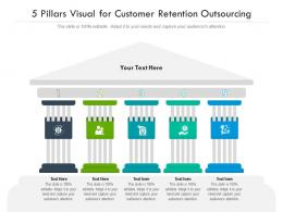 5 Pillars Visual For Customer Retention Outsourcing Infographic Template