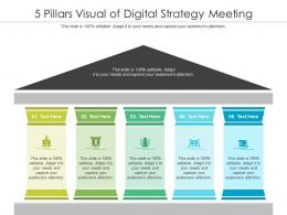 5 Pillars Visual Of Digital Strategy Meeting Infographic Template