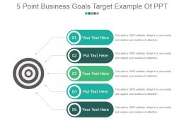 5 Point Business Goals Target Example Of Ppt