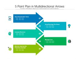5 Point Plan In Multidirectional Arrows