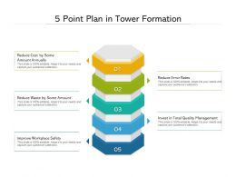 5 Point Plan In Tower Formation