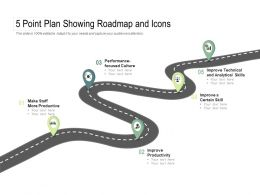 5 Point Plan Showing Roadmap And Icons