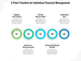 5 Point Timeline For Individual Financial Management