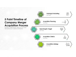 5 Point Timeline Of Company Merger Acquisition Process