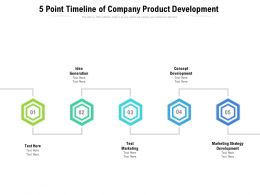 5 Point Timeline Of Company Product Development
