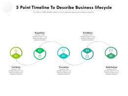 5 Point Timeline To Describe Business Lifecycle