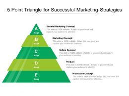 5 Point Triangle For Successful Marketing Strategies