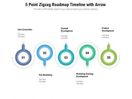 5 Point Zigzag Roadmap Timeline With Arrow