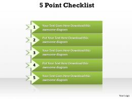 5 Points Checklist Diagram