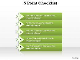 5 Points Checklist Diagram
