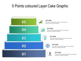 5 Points Coloured Layer Cake Graphic