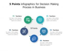 5 Points For Decision Making Process In Business Infographic Template