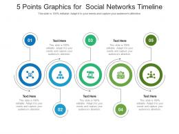 5 Points Graphics For Social Networks Timeline Infographic Template