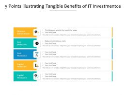 5 Points Illustrating Tangible Benefits Of It Investment