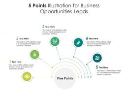5 Points Illustration For Business Opportunities Leads Infographic Template