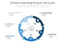 5 Points Indicating Product Life Cycle