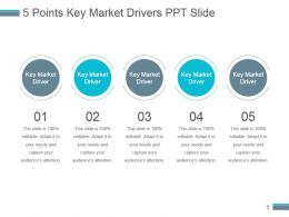 5 Points Key Market Drivers Ppt Slide