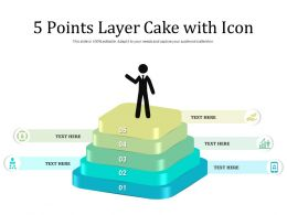 5 Points Layer Cake With Icon