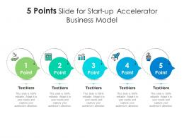 5 Points Slide For Start Up Accelerator Business Model Infographic Template