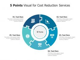 5 Points Visual For Cost Reduction Services Infographic Template