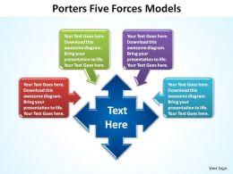 5 porters forces models slides diagrams templates powerpoint info graphics