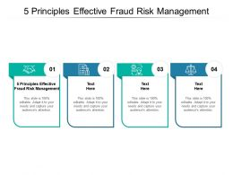 5 Principles Effective Fraud Risk Management Ppt Powerpoint Presentation Portfolio Cpb