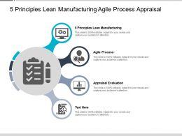 5 Principles Lean Manufacturing Agile Process Appraisal Evaluation Cpb