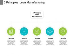 5 Principles Lean Manufacturing Ppt Powerpoint Presentation Ideas Example Cpb
