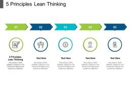 5 Principles Lean Thinking Ppt Powerpoint Presentation Infographic Template Portfolio Cpb