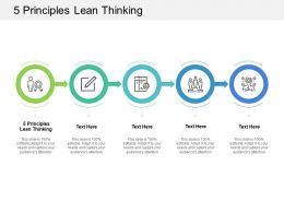 5 Principles Lean Thinking Ppt Powerpoint Presentation Styles Brochure Cpb