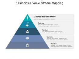 5 Principles Value Stream Mapping Ppt Powerpoint Presentation Gallery Diagrams Cpb