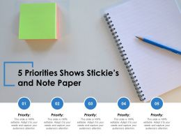 5 Priorities Shows Stickies And Note Paper