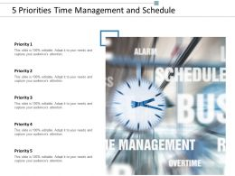 5 Priorities Time Management And Schedule
