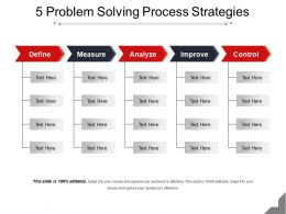 5 Problem Solving Process Strategies Powerpoint Images