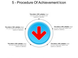 5 Procedure Of Achievement Icon